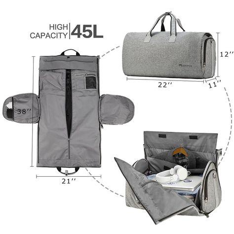 On Garment Duffel Bag for Wrinkle-Free Business Travel Carry On Garment Duffel Bag for Wrinkle-Free Business Travel-Garment Bag-Modoker-ModokerCarry On Garment Duffel Bag for Wrinkle-Free Business Travel-Garment Bag-Modoker-Modoker Duffle Bag Travel, Duffel Bag, Mens Travel Bag, Fun Travel, Travel Bags For Men, Travel Light, Travel Tips, Business Travel, Business Casual