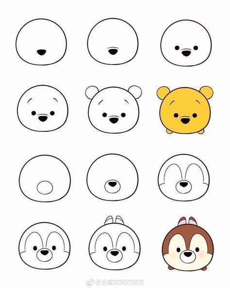 How To Draw Tsum Tsum Dibujos Faciles Dibujos Sencillos