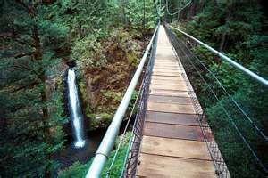 DRIFT CREEK FALLS - LINCOLN CITY OREGON--easy 2 mile round trip hike with a bridge!!!