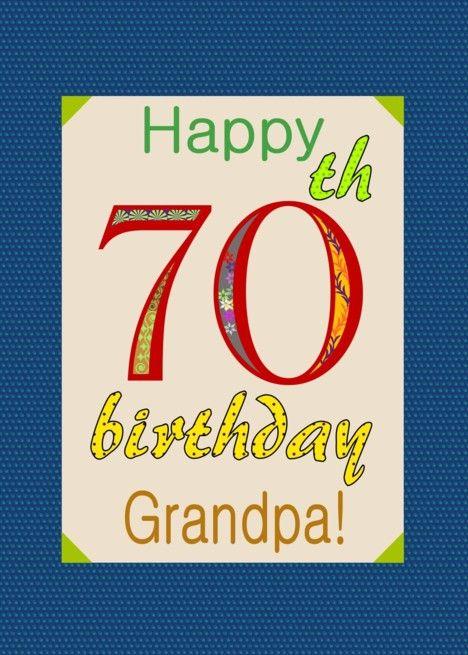 Grandpa Rsquo S 70th Birthday Colorful Letters Card Ad Affiliate Rsquo Grandpa Birthday Chalkboard Invitation Template 70th Birthday Birthday Cards