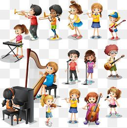 Vector Many Play Different Instruments Clipart Child Musical Instruments Png Transparent Clipart Image And Psd File For Free Download Kids Instruments Kids Musical Instruments Best Friends Cartoon