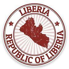 2 x 10cm Liberia Vinyl Sticker Decal Laptop Car Travel Luggage Tag Flag #9201