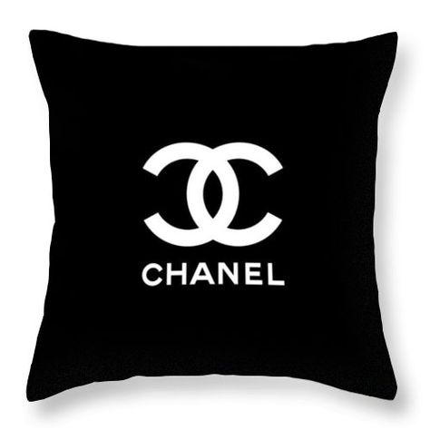 Chanel - Black and White 03 - Lifestyle and Fashion Throw Pillow for Sale by TUSCAN Afternoon White Throws, White Throw Pillows, White Decorative Pillows, Black Pillows, Throw Pillow Covers, Chanel Bedding, Chanel Bedroom, Cute Bedroom Ideas, Luxury Throws