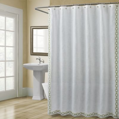 Croscill Landon 54 X 78 Stall Shower Curtain In Green Stall