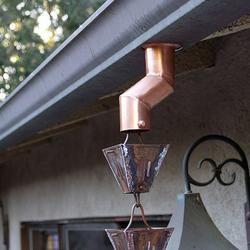 Rain Chain Gutter Installation Kit Copper Half Round How To Install Gutters Rain Chain Diy Copper Gutters