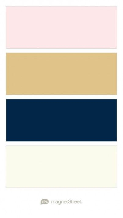 Cream Rose Gold Navy And Ivory Wedding Color Palette Custom Color Palette Created At Gold Wedding Colors Blue Color Schemes Blue Colour Palette