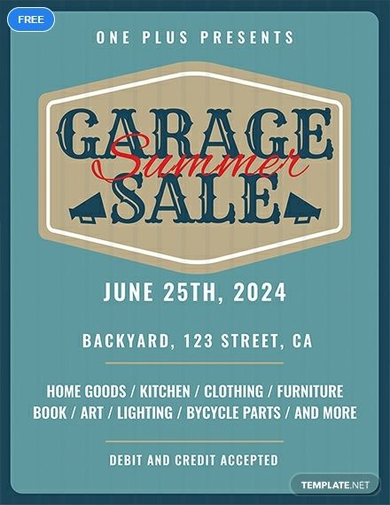 Free Printable Garage Sale Flyer Template Word Doc Psd Indesign Apple Mac Pages Illustrator Publisher Flyer Template Sale Flyer Templates Printable Free