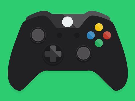 Flat Xbox One Controller Icon Xbox One Controller Xbox One Xbox Controller