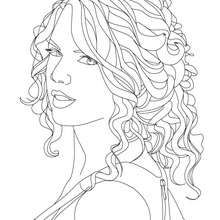 Taylor Swift Close Up Coloring Page Coloring Page Famous