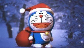 Wallpaper Doraemon Warna Biru