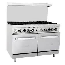 Migali 48 8 Burner Gas Range With 2 Ovens C Ro8 Commercial Stoves Commercial Kitchen Oven