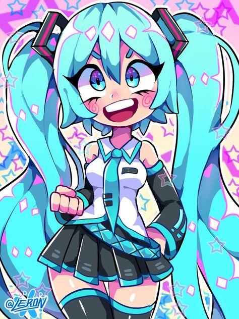 Cosplay Manga Miku~ by Arte Do Kawaii, Kawaii Art, Kawaii Drawings, Cute Drawings, Cartoon Drawings, Vocaloid, Miku Hatsune Cosplay, Manga Art, Anime Art