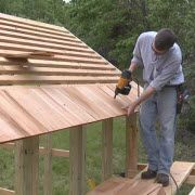 How To Install Cedar Shingle And Clear Polycarbonate Roofing On A