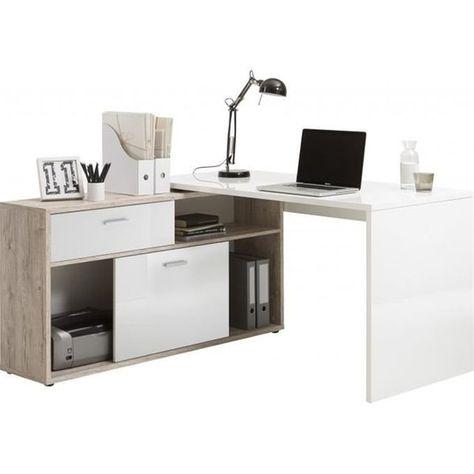 Bureau D Angle Avec Rangements Elsa Office Table Bureau
