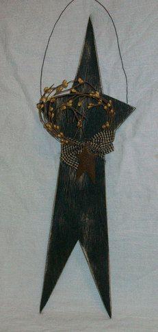 Prim Black Star by crescentmoonprim on Etsy, $12.00