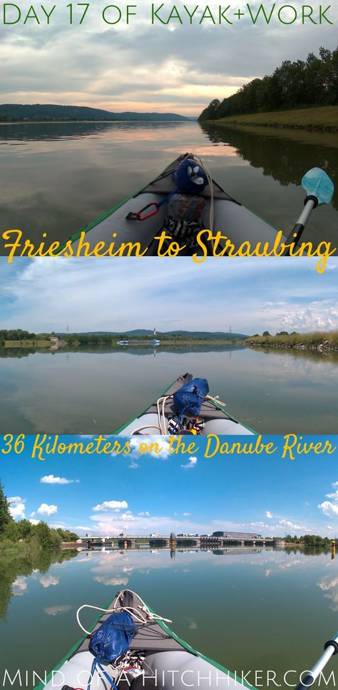 On the 17th day, we mounted the fin for the first time in our inflatable kayak named Zucchini. And Oh. My. God... we're finally paddling straight! Why didn't we put the fin in before? #Danube #Friesheim #Straubing #Germany #Bavaria #Deutschland #Bayern #Donau #hydroelectricdam #dam #river #travel #journey #paddler #adventure #slowtravel #greentravel #ecotravel #digitalnomad #Europe