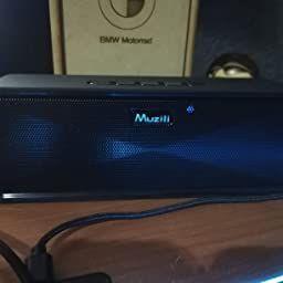 Verdadero Modo Est/éreo Inal/ámbrico Altavoz Port/átil con 12H Continuo Largo Tiempo de Juego IPX7 Impermeable 20M Rango Transmisi/ón Asistente de Voz Funci/ón Apagado Auto Muzili Bluetooth 5.0 Altavoz