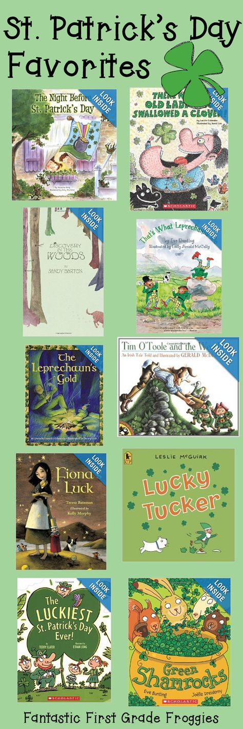 Great collection of St. Pat's books for the classroom!