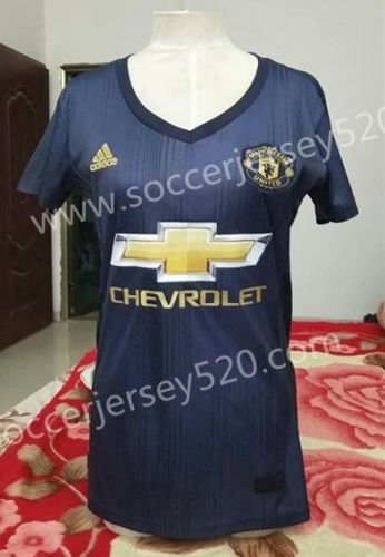 2018 19 Manchester United 2nd Away Darkgray Female Thailand Soccer Jersey Aaa Soccer Jersey Womens Soccer Manchester United