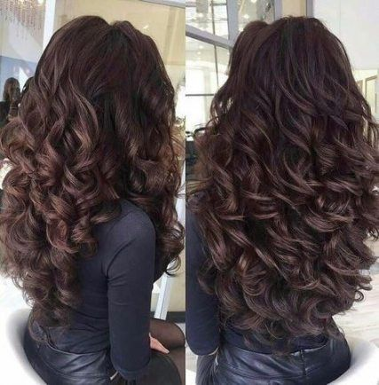 35 Trendy Hairstyles Prom Brunette Long Curly Hair Styles Elegant Wedding Hair Long Curly Hair
