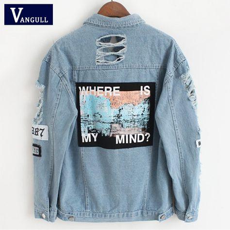 Adorable Denim Women Jacket - Blue, M