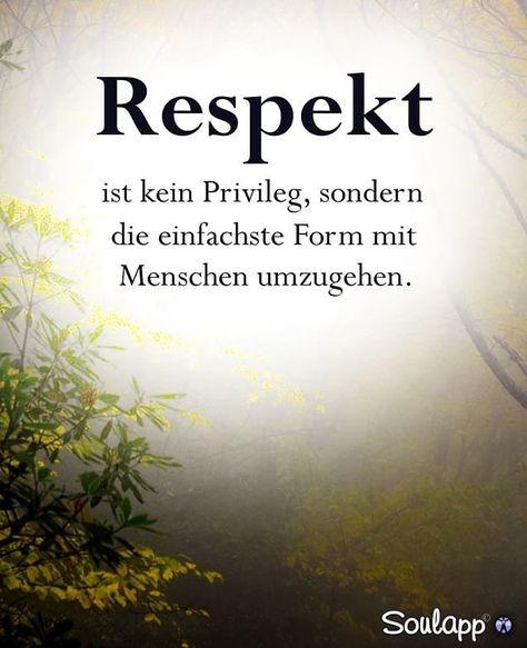 Respekt ist kein Privileg, sondern die einfachste Form mir Menschen umzugehen.