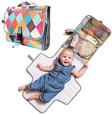 Amazon Com Baby Portable Diaper Changing Pad Light Travel Clutch And Organize In 2020 Baby Changing Mat Travel Portable Baby Changing Station Portable Changing Pad