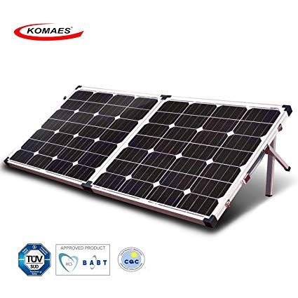 Komaes 120 Watt 12v 24v Monocrystalline Portable Folding Solar Panel Suitcase With Energy Efficient Technology Include Solar Panels Solar Solar Panels For Home