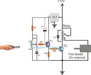 cbf93eccdaf291fedfa304add414c645 fish feeder electronic circuit remote controlled fish feeder circuit for implementing a remote deer feeder wiring diagram at soozxer.org