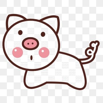 White Cute Pig Element White Cute Ears Png Transparent Clipart Image And Psd File For Free Download Cute Pigs Pig Clipart Little Pets