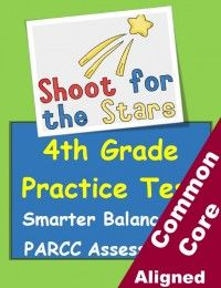 4th Grade PARCC / Smarter Balanced practice test. Reading, writing and math... all in one packet! Answer keys included. Are your kids ready for standards-based testing? From Betsy Weigle at Classroom Caboodle
