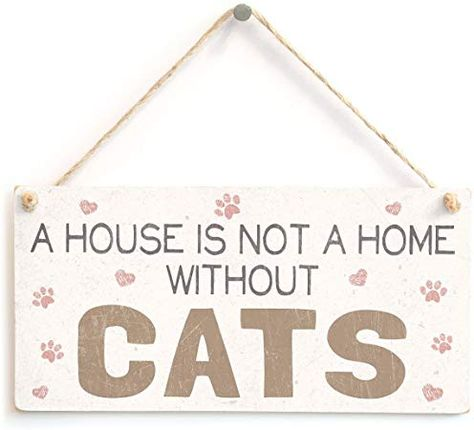 Amazon Com Meijiafei A House Is Not A Home Without Cats Cat