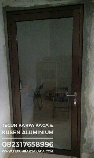 Pintu Aluminium Kaca Ykk Warna Cokelat 0823 1765 8996 Warna