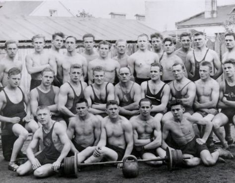 Vintage Weight Lifting Team