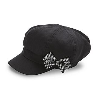 d096d6e63ba6ce Bongo Women's Embellished Cabby Hat - Bow - Clothing, Shoes & Jewelry -  Bags & Accessories - Women's Accessories - Women's Winter Accessorie.
