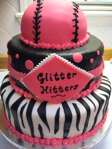 softball cakes   Softball Team Cake