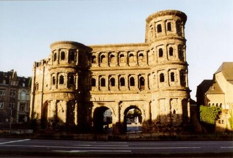 Trier, Germany--Porta Nigra (black gate)   Last of the Roman city gate built sometime between 186 -200 A.D.