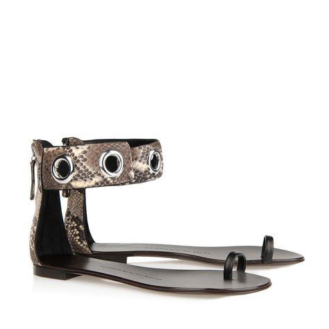 2014 New Fashion Women Flat Sandal Casual Sandals Brand Sapatos Gladiator Shoes Snakeskin Plus Size EU 41 $4759,62