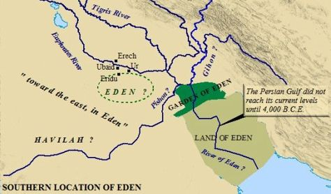 This map of Eden depicts the geographical state of the area