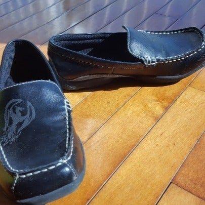 Black leather Skechers men's shoes sz 5