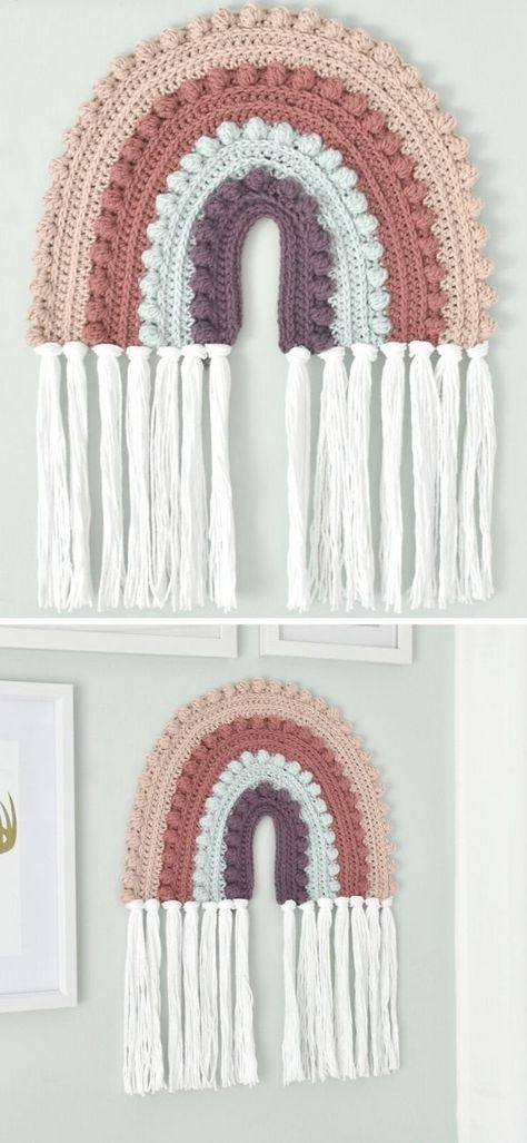 Crochet Wall Art, Crochet Wall Hangings, Crochet Home Decor, Crochet Crafts, Yarn Crafts, Free Crochet, Diy Crochet Wall Hanging, Diy Crochet Projects, Crochet Bear