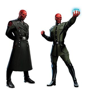 Possible Captain America: The First Avenger concept art for Red Skull. Captain America: The First Avenger stars Chris Evans and Hugo Weaving.