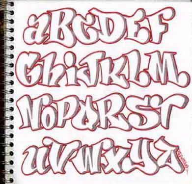 block letters graffiti alphabet   design-sketch-graffiti-alphabet-letters-in-the-paper-broke-ass-stuart