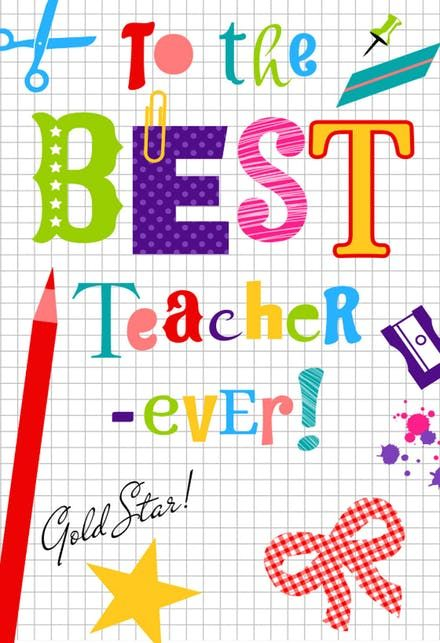 Thank You Teacher Thank You Card For Teacher Free In 2020 With