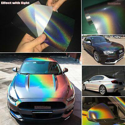 Magic Holographic Rainbow Mirror Laser Chameleon Chrome Car Vinyl Wrap Sticker A In 2020 Vinyl Wrap Car Holographic Car Chrome Cars