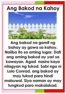 Tagalog Reading Passages 5 Reading Passages Reading