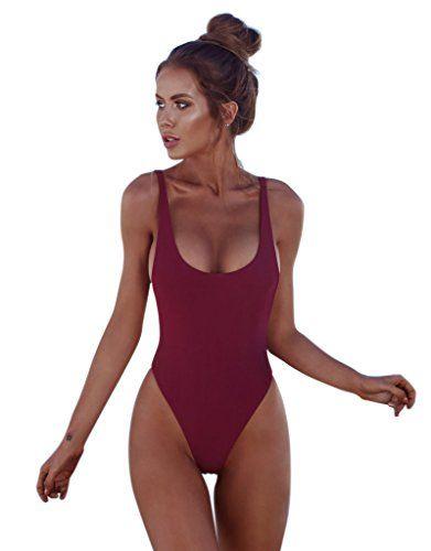 860b5de8f41 Zoizlla One Piece Swimsuits Bathing Suit Swimwear Sexy Beachwear ...