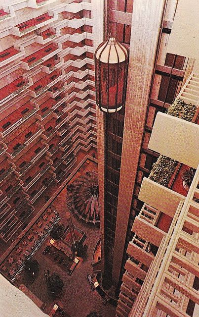 Regency Hyatt House Atlanta Georgia for architecture tour - loved this ride when I was a little girl!