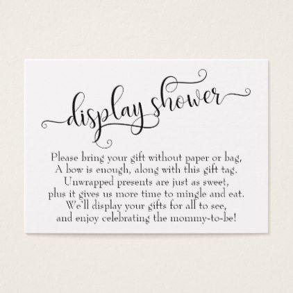 Elaborate Script Display Baby Shower Gift Card Zazzle Com In 2019