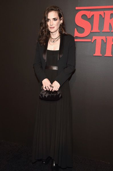Winona Ryder At The 'Stranger Things' Netflix Premiere - 'Stranger Things' Ladies On The Red Carpet - Photos